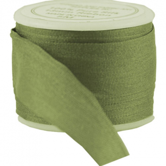 Ruban Soie 13mm Olive (bobine 5m)