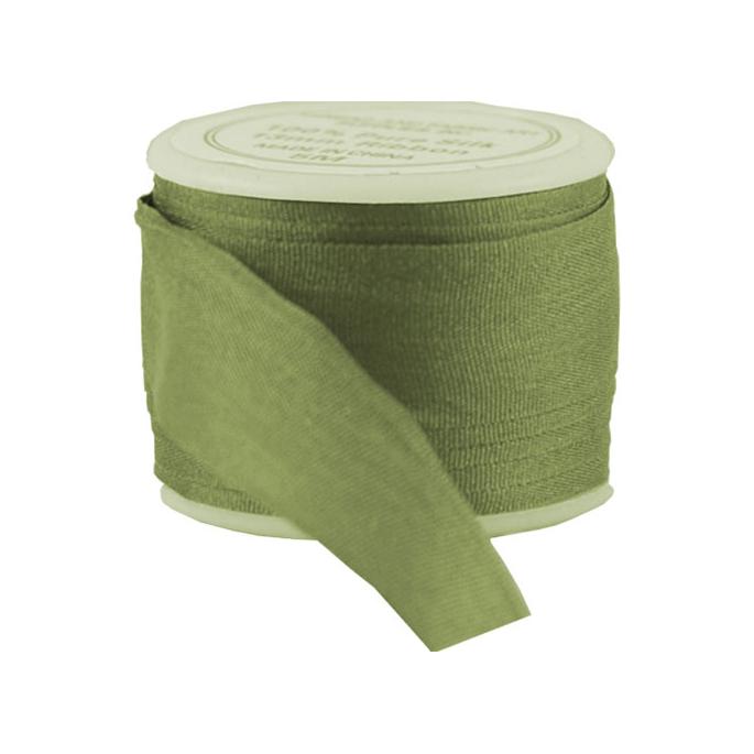 Silk Ribbon 13mm Olive (5m spool)