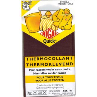 Pièce thermocollante NIGAL Quick - percale coton Marron Foncé