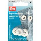 Boutons magnétiques à coudre 19mm Argent (x3)