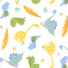 PUL- Dinos allover- cotton laminate (50x55)