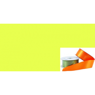 Satin Ribbon 38mm Bright Yellow (20m roll)