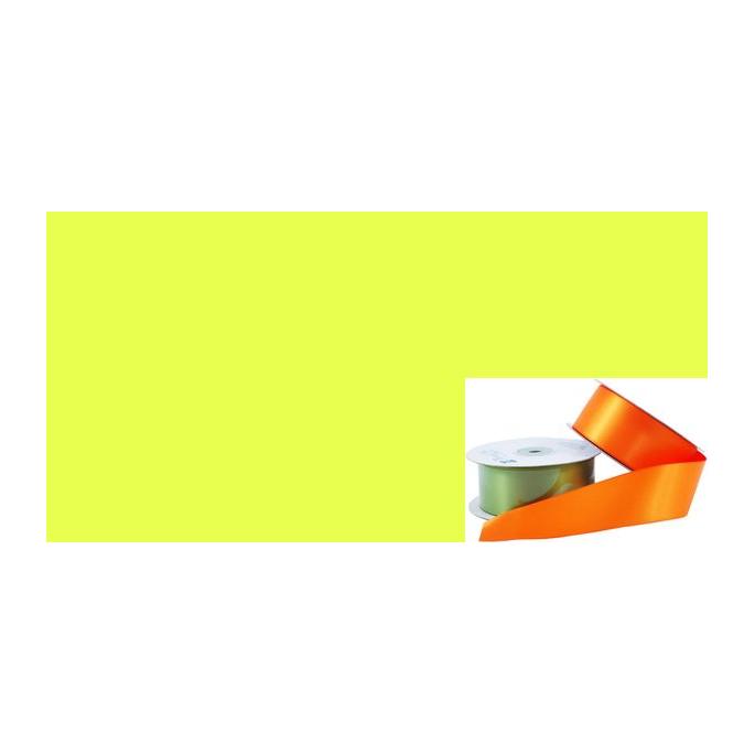 Satin Ribbon 38mm Bright Yellow (20m roll)