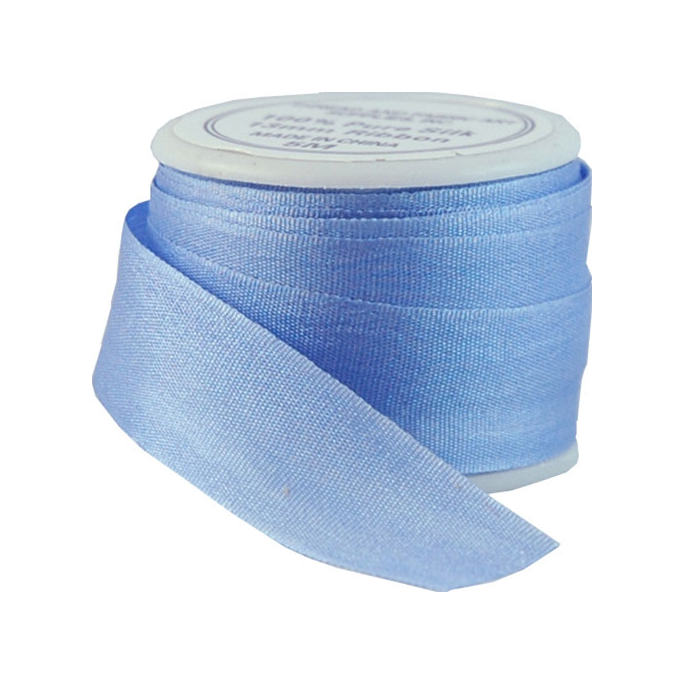Silk Ribbon 13mm Light Blue (5m spool)