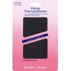 Pièce thermocollante - Coton Gris Foncé (x2)