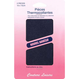 Pièce thermocollante - Coton Jeans Foncé (x2)