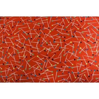 Coton imprimé Pin Scatter Orange Michael Miller par 10cm