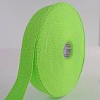 Cotton Webbing 23mm Green (15m roll)