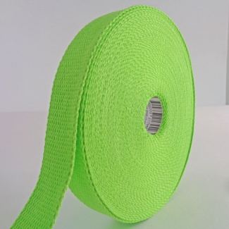 Sangle coton 23mm Vert (bobine 15m)