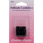Ajustable Cord toggles Black (x2)