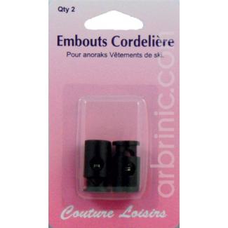 Arrêts cordons ajustables Noir (x2)
