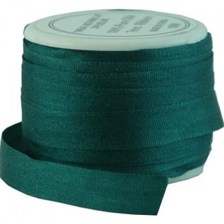 Ruban Soie 7mm Turquoise Foncé (bobine 10m)