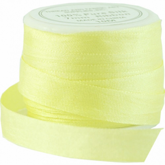 Silk Ribbon 7mm Yellow (10m spool)
