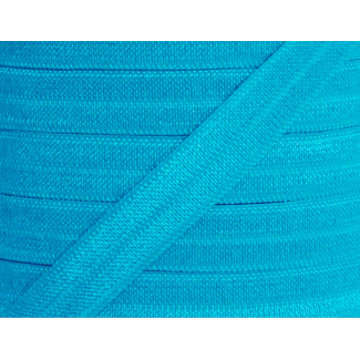 Biais élastique lingerie Oekotex 15mm turquoise (au mètre)