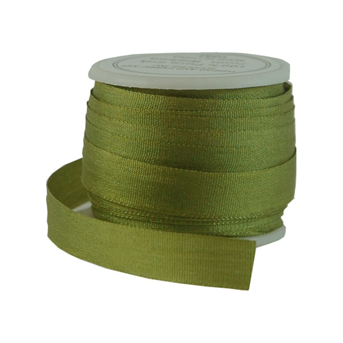 Silk Ribbon 7mm Olive (10m spool)