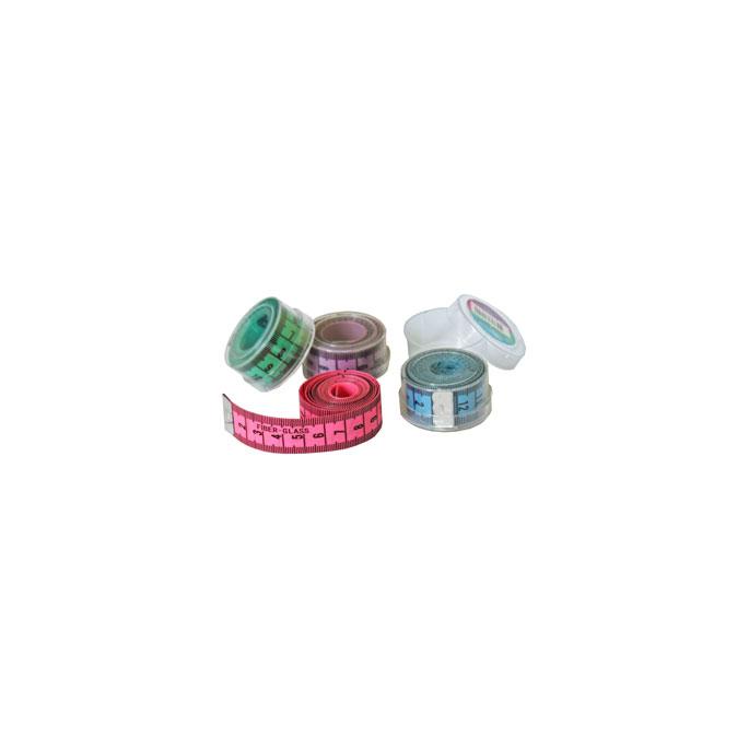 Centimètre couture souple avec boîte rangement - 150cm VERT