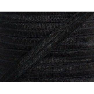 Biais élastique lingerie Oekotex 15mm noir (bobine 25m)