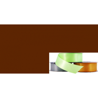 Satin Ribbon 25mm Dark Brown (20m roll)