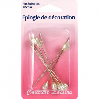 Embellishement Pins 65mm long (x10)