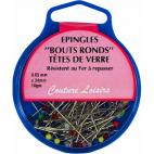 Glass Head Pins 34mm (x95)