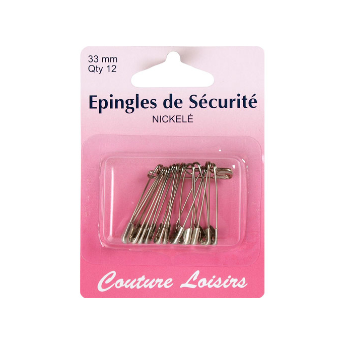 Epingles à Nourrice Nickel 33mm (x12)