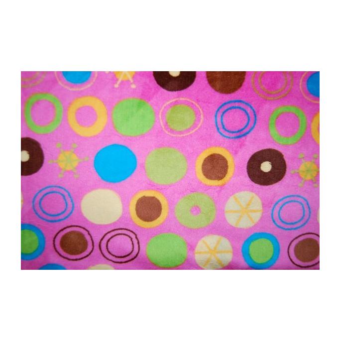 Minky - Bubbles Pink - Robert Kaufman (per meter)