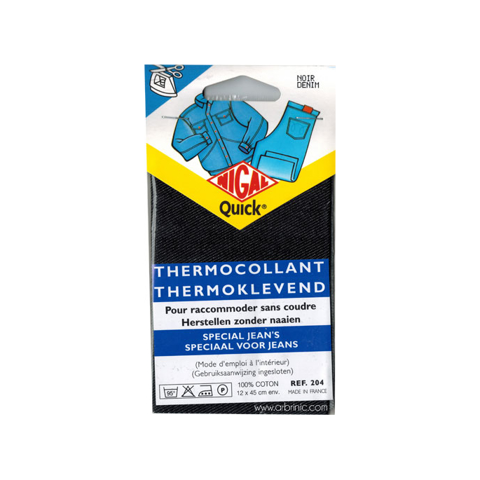 Iron-on mender NIGAL Quick - Jeans Denim Black