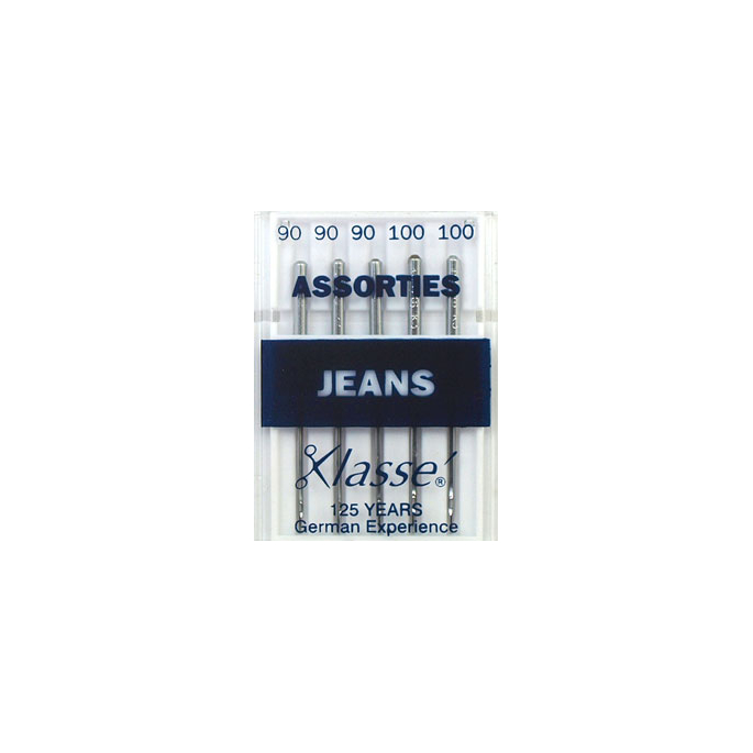 Machine needles Jeans Assorted sizes 90-100 (x5)
