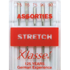 Machine needles Stretch Assorted sizes 75-90 (x5)