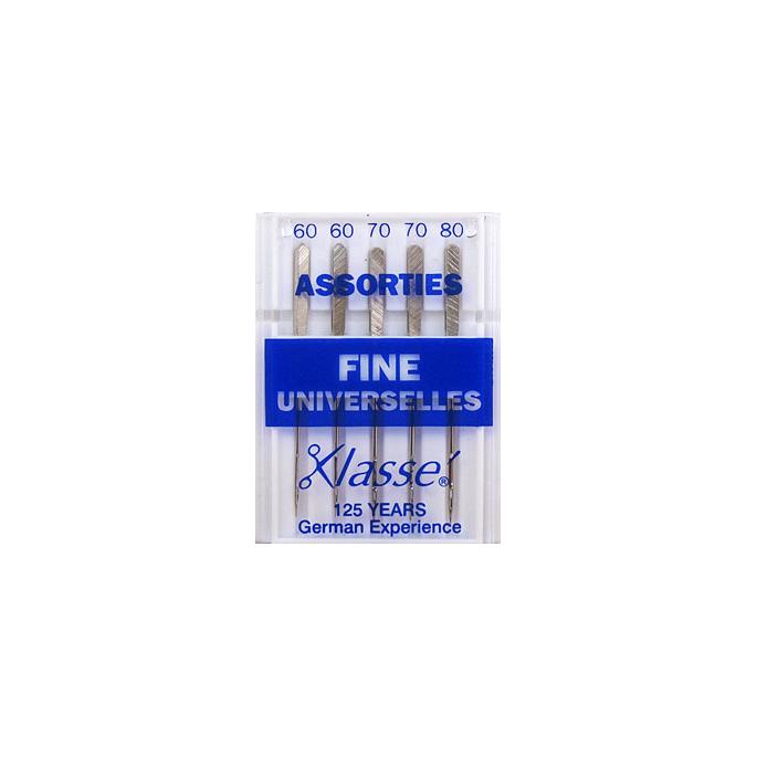 Machine needles Universal Assorted sizes 60-70-80 fines (x5)
