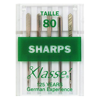 Machine needles Sharp 80/12 (x5)