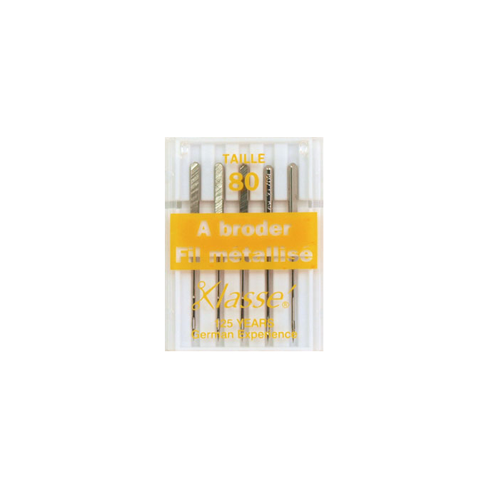 Machine needles for metallic thread 80/12 (x5)