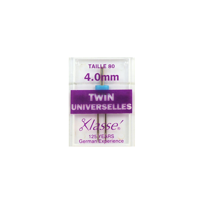 Machine Twin needles Universal 4.0mm 80/12