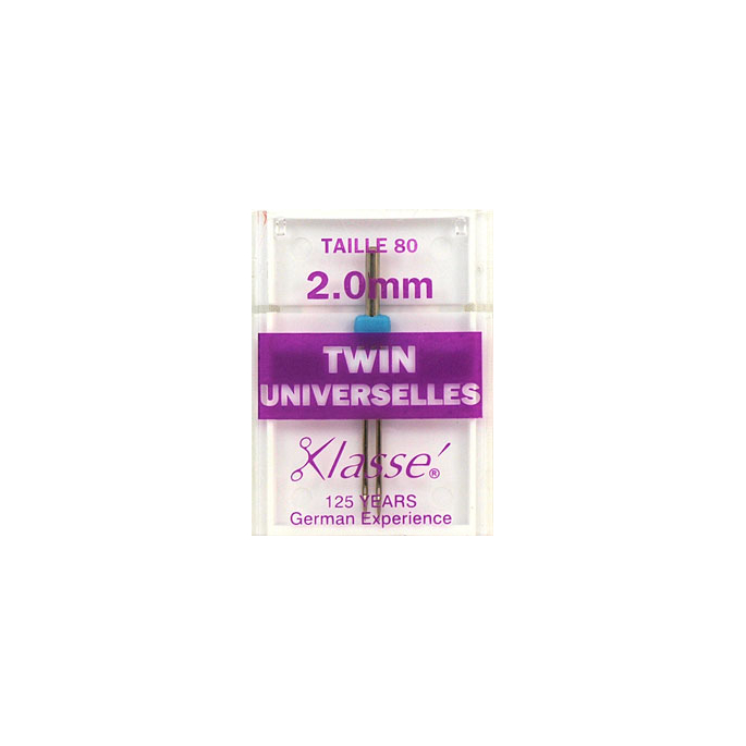 Machine Twin needles Universal 2.0mm 80/12