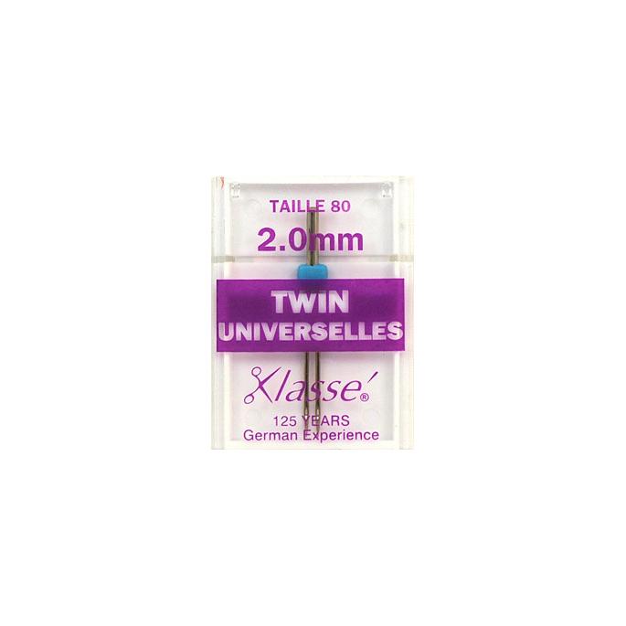 Machine Twin needles Universal 2.0mm 80/12