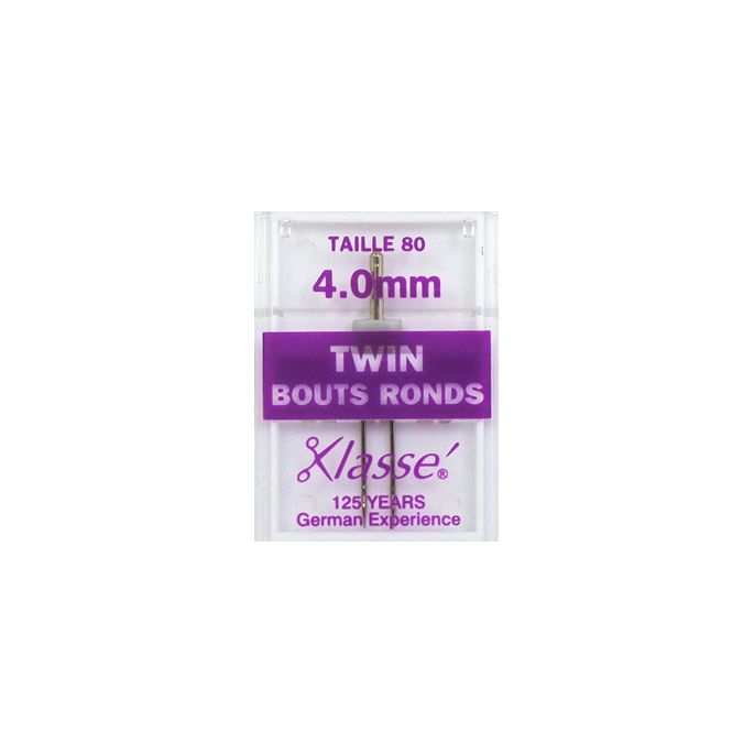 Machine Twin needles Ball Point 4.0mm 80/12