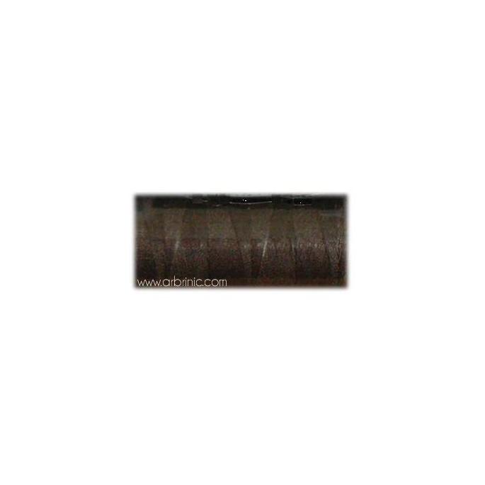 Fil polyester QA 500m Couleur 390 Marron Foncé