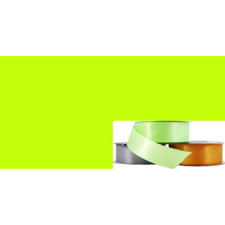 Satin Ribbon 25mm Lime Green (20m roll)