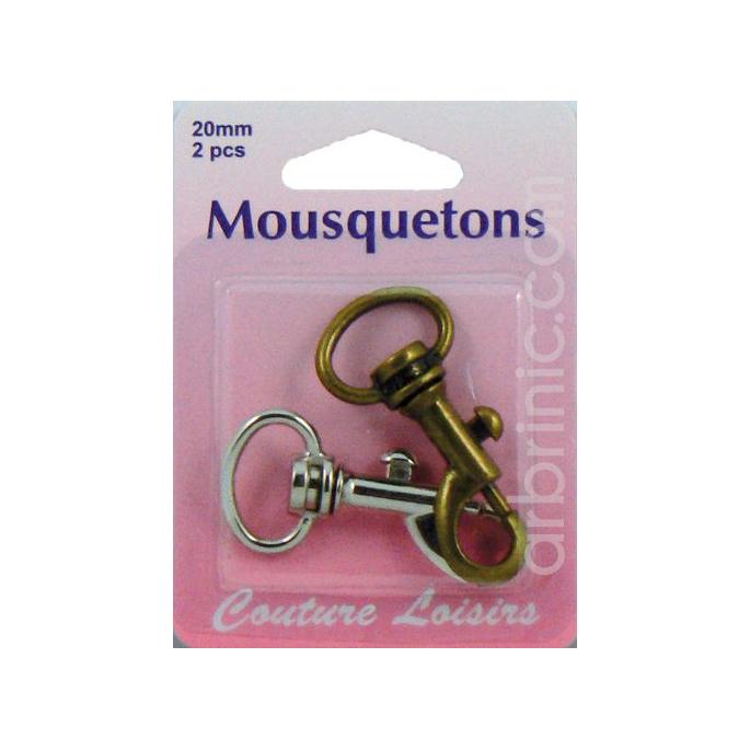 Mousquetons Bronze et Métal 20mm (x2)