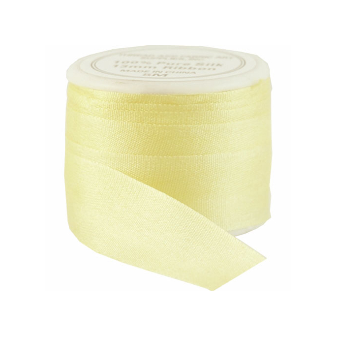 Silk Ribbon 13mm Yellow (5m spool)