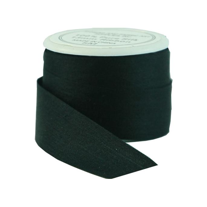 Ruban Soie 13mm Noir (bobine 5m)