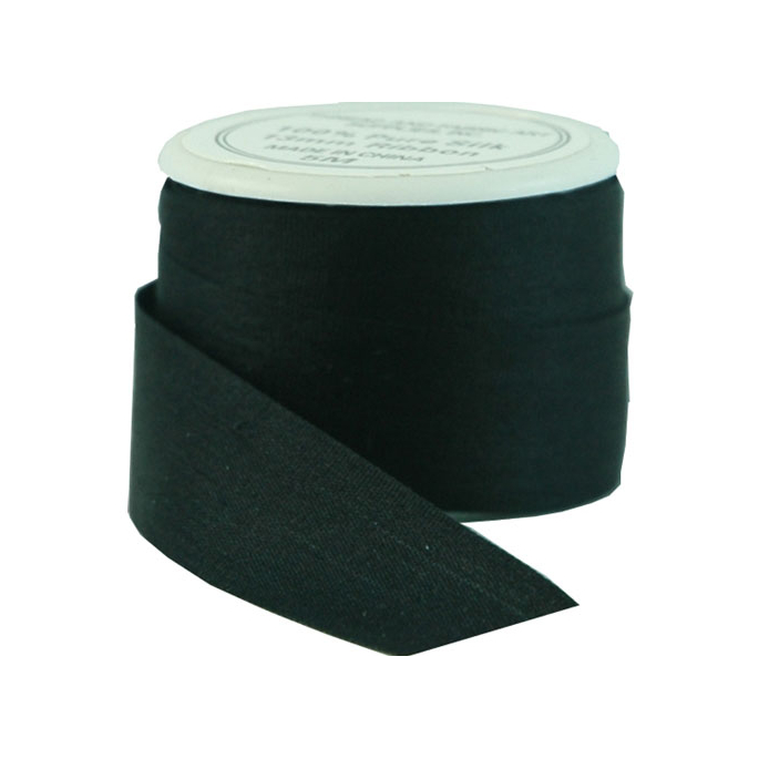 Silk Ribbon 13mm Black (5m spool)