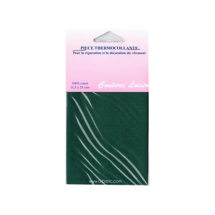 Pièce thermocollante - Percale coton Vert Foncé