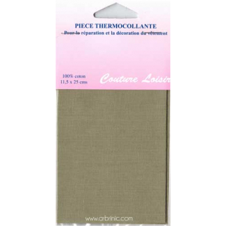Pièce thermocollante - Percale coton Beige