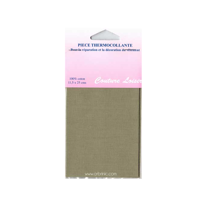 Iron-on mender - Lightweight cotton Beige
