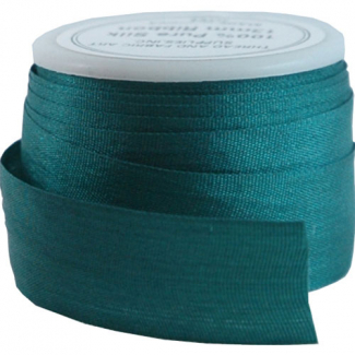 Silk Ribbon 13mm Dark Teal (5m spool)