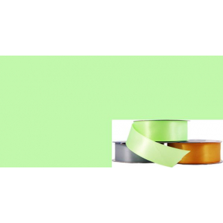 Satin Ribbon 25mm Pastel Green (20m roll)