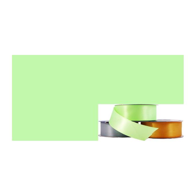 Ruban Satin 25mm Vert Pastel (rouleau 20m)