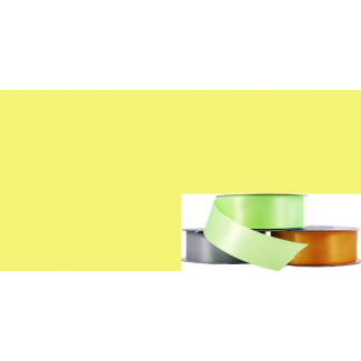 Satin Ribbon 25mm Yellow (20m roll)