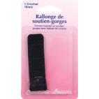Rallonge Soutien-gorge 19mm 1 crochet - Noir